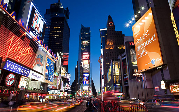 Broadway and times square new york
