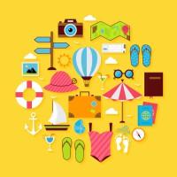 flat-travel-summer-icon-circle-shaped-set-vector-4373703